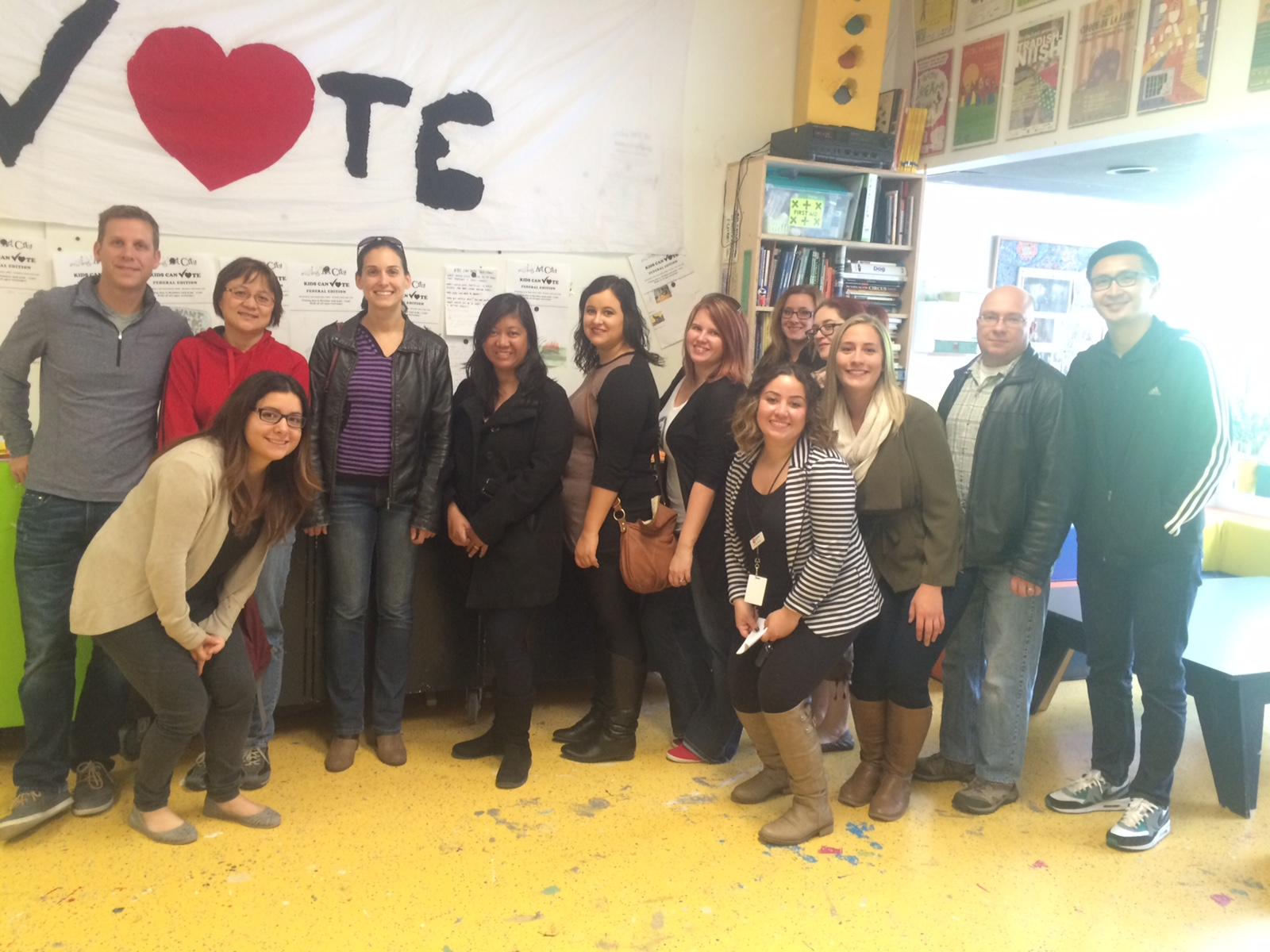 CWB National Leasing employee tour Art City in West Broadway, a United Way-funded agency