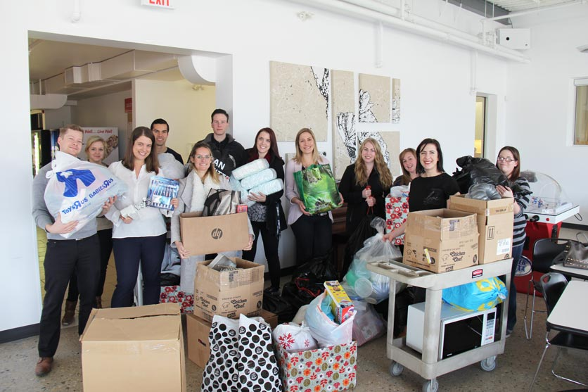 CWB National Leasing's GenNext pod collects donation items for CMWI to support newcomers in need