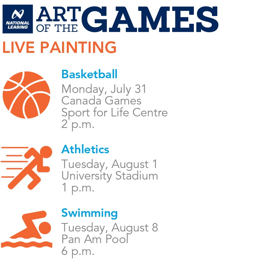 Art of the Games live painting schedule