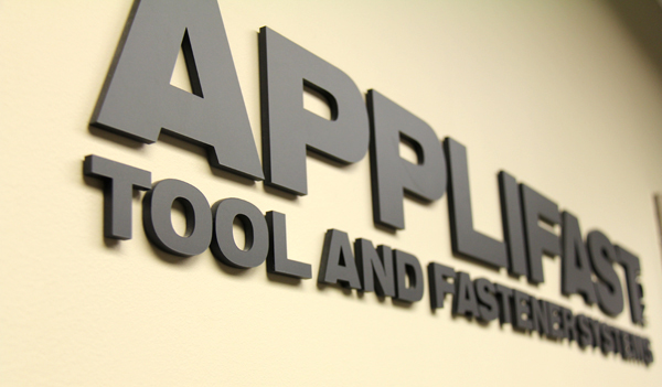 Applifast Tool and Fastener Systems sign at its head office in Winnipeg, Manitoba.