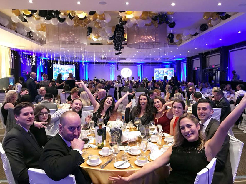 National Leasing employees celebrating another successful year at the 2017 Gala