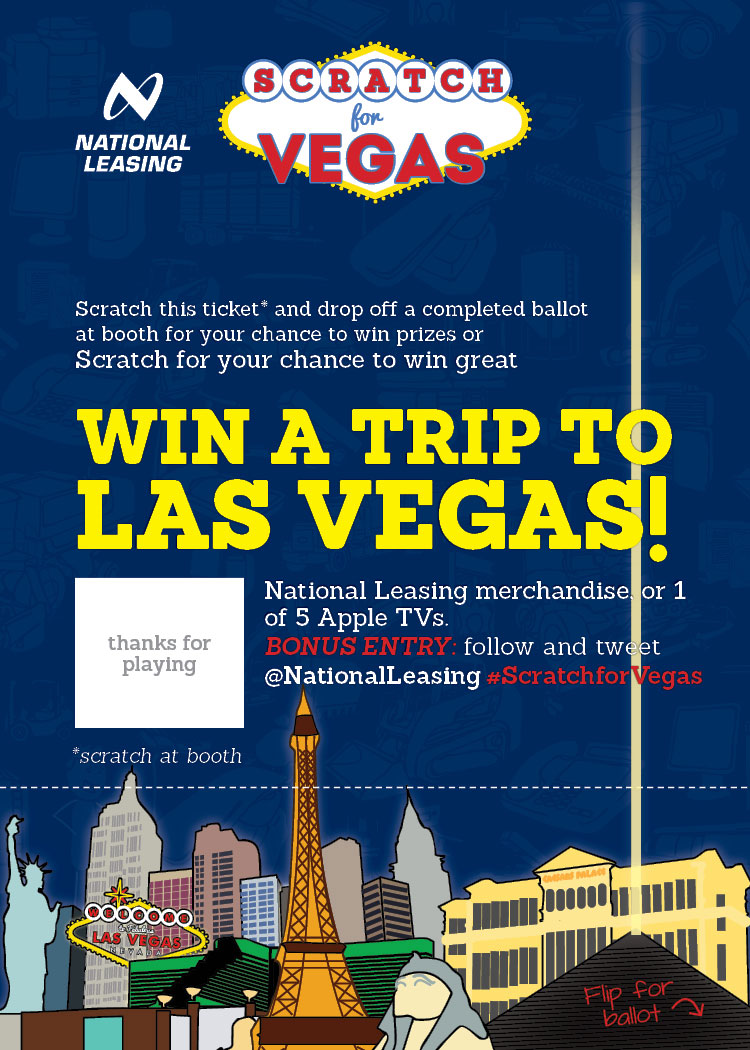 National Leasing Scratch for Vegas promotion