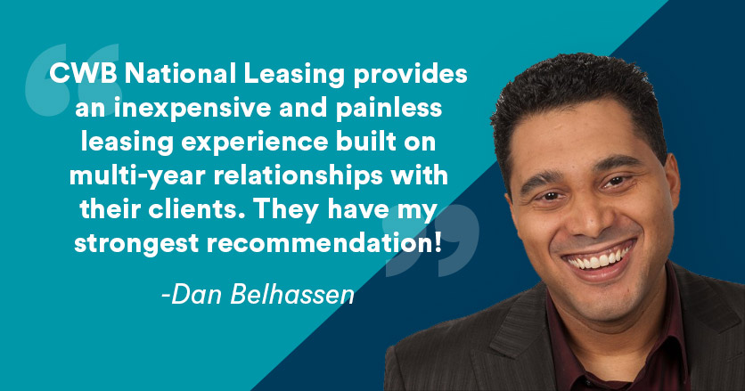 CWB National Leasing provides an inexpensive and painless leasing experience built on multi-year relationships with their clients. They have my strongest recommendation!