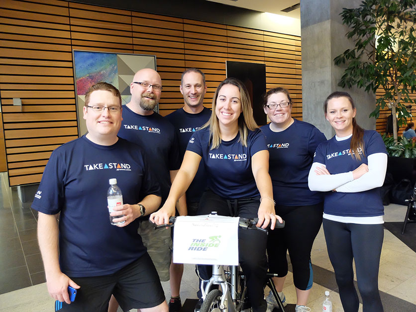 CWB National Leasing team at 2016 Inside Ride in Winnipeg