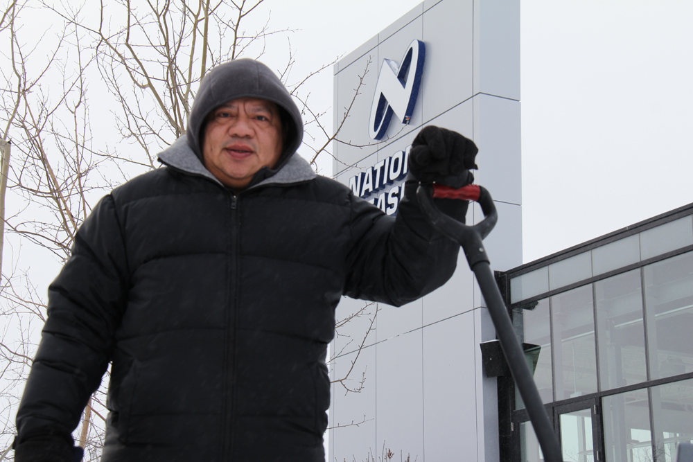Michael outside CWB National Leasing head office