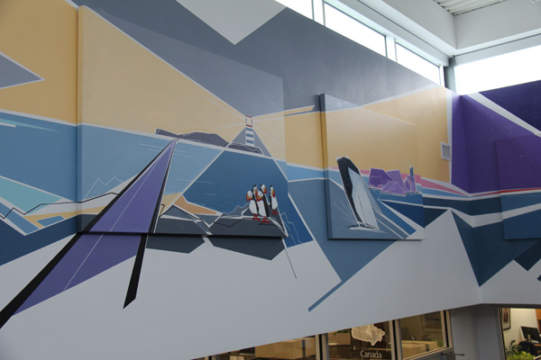 The Atlantic Canada section of the National Leasing mural