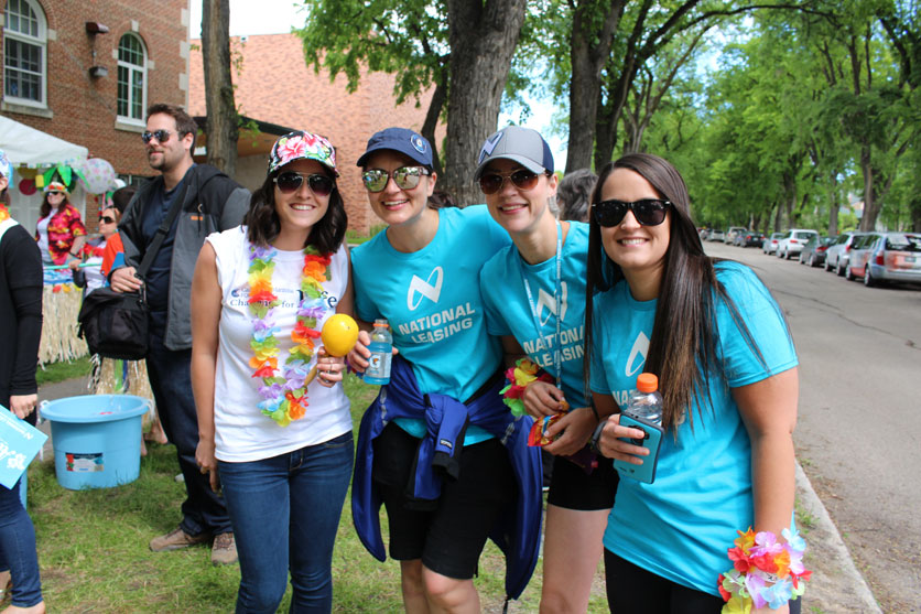 CWB National Leasing employees take part in CancerCare Manitoba Foundation's Challenge for Life
