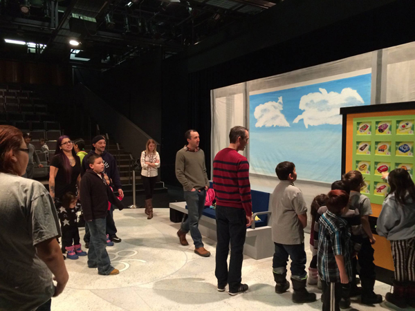 Point Douglas families tour Prairie Theatre Exchange in January 2016