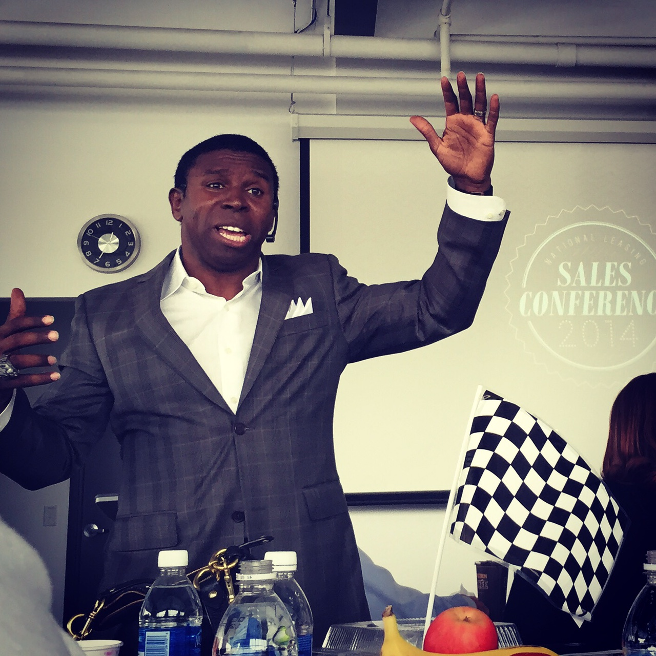 "Michael ""Pinball"" Clemons taught employees how to 'WIN BIG' during his keynote address at the Sale Conference"