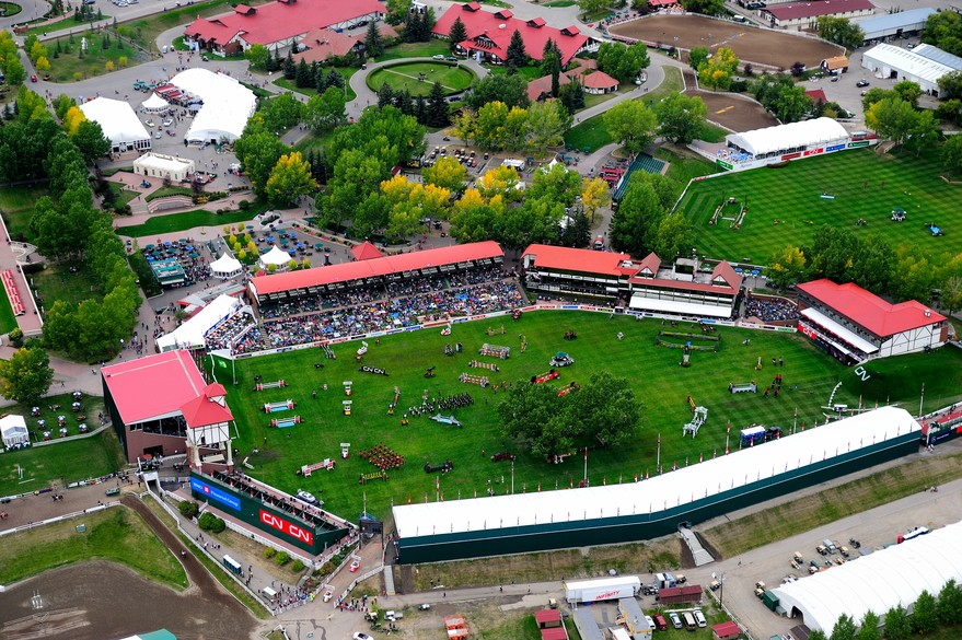 Aerial view of Spruce Meadows
