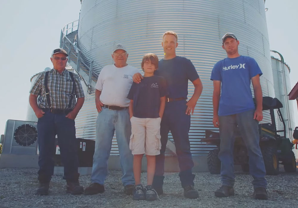 A photo of Dave McEachren and the rest of his family -- all farmers