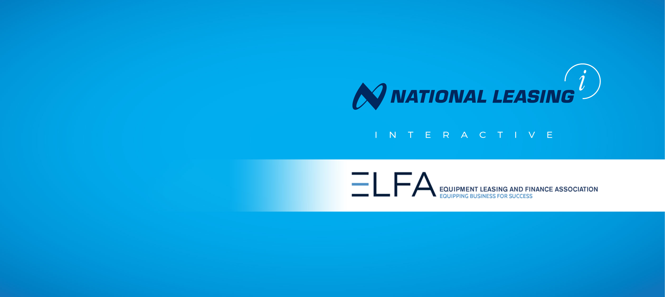 Equipment Leasing and Finance Association logo, National Leasing logo