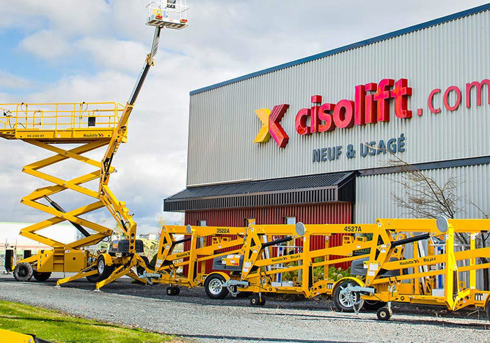 A photo of a Cisolift aerial work platform