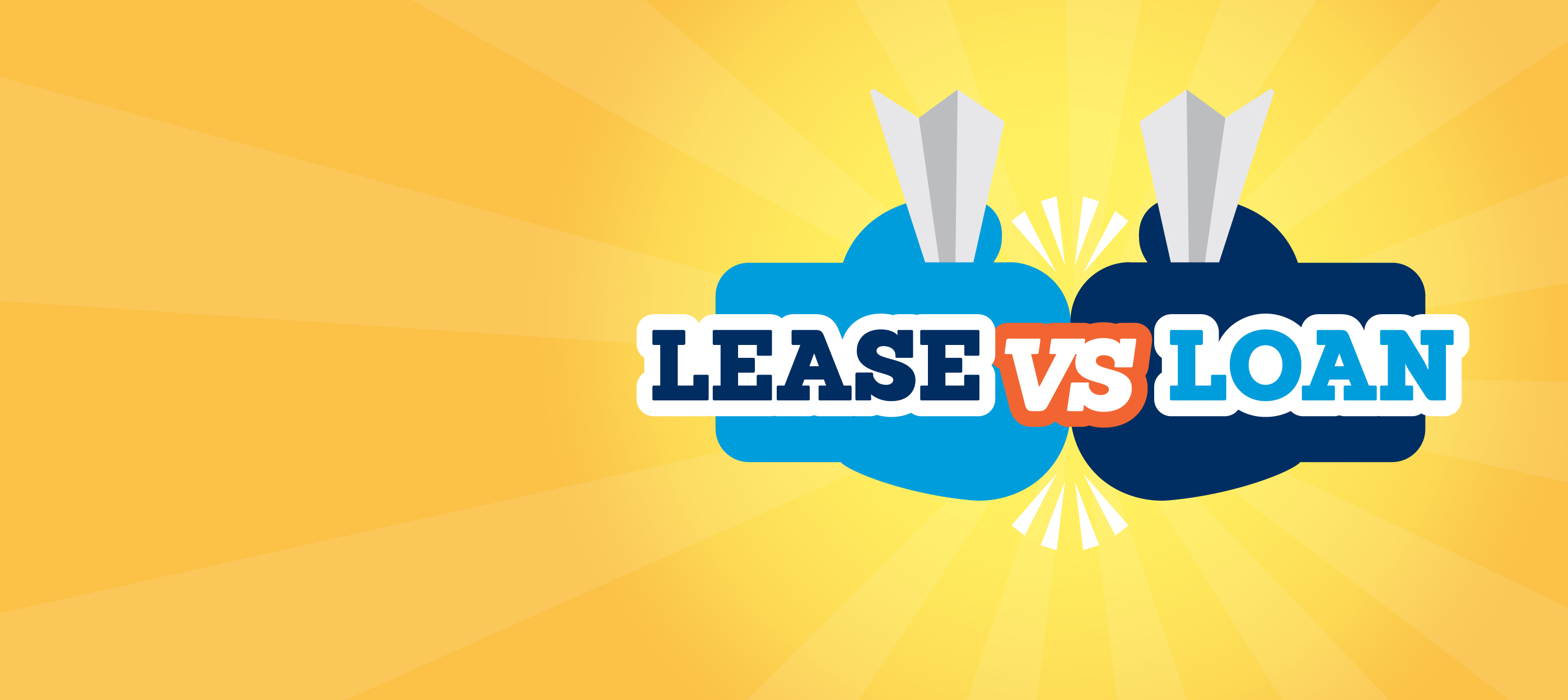 A lease and loan going head to head symbolized with boxing gloves