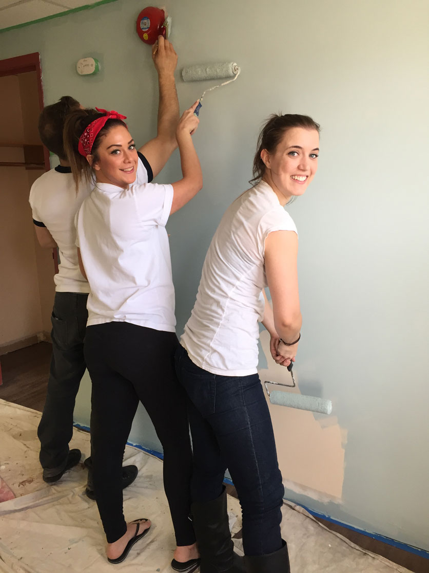 CWB National Leasing's GenNext volunteers lending a hand at a Winnipeg resource centre