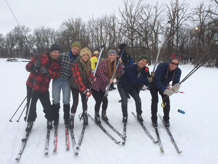 CWB National Leasing's cross country ski team