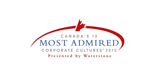 2015 winner of Canada's 10 Most Admired Corporate Cultures