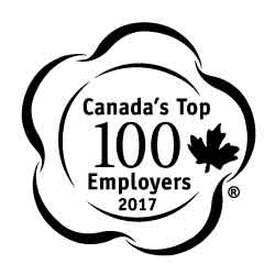 2017 winner of Canada's Top 100 Employers