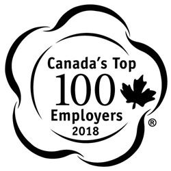 2018 winner of Canada's Top 100 Employers