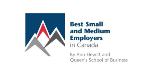 2017 winner of Best Small and Medium Employers in Canada (10th year running)